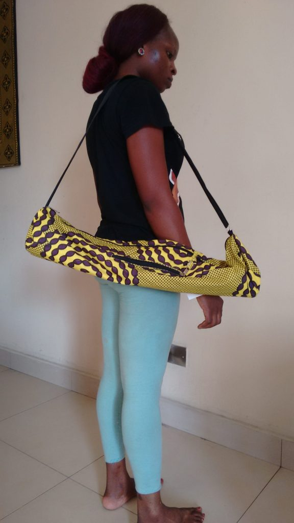 aafro bag - your yoga mat carrier from Nigeria