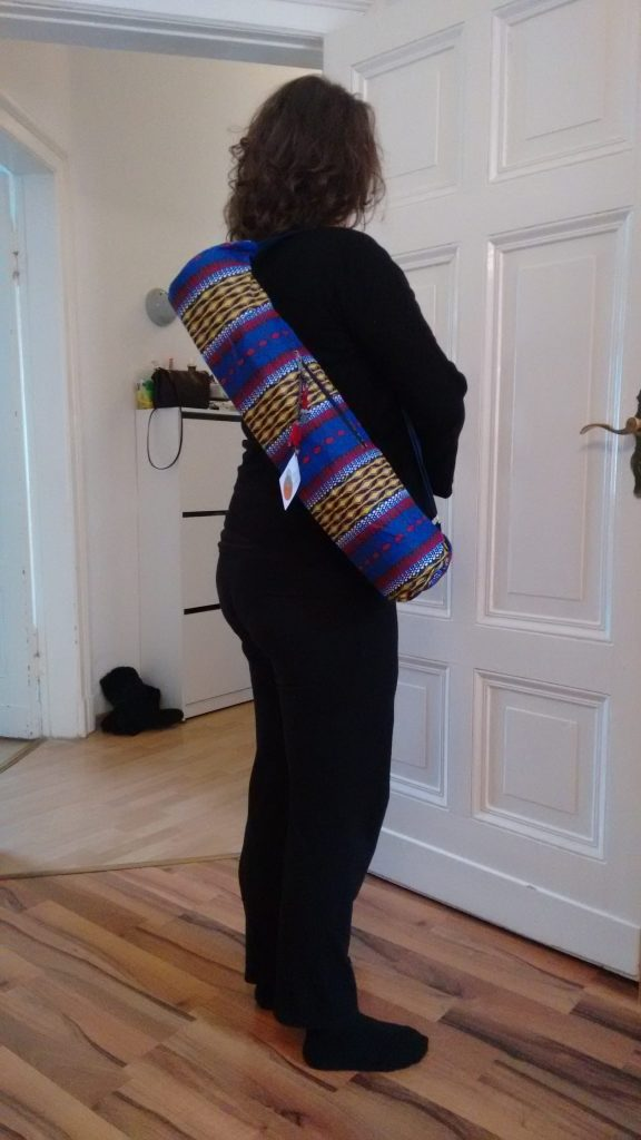 afro bag - your yoga mat carrier from Nigeria